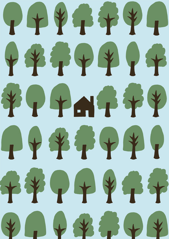 House In The Woods - Endpaper design