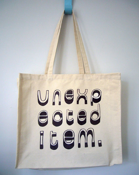 Unexpected Item - Shopping bag design - personal work